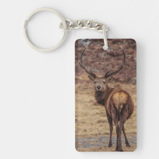Red Deer Stag Keychain/Keyring Key Ring