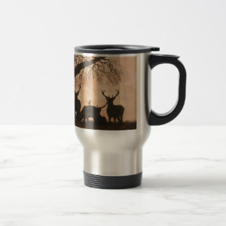Red Deer Stags Travel Mug