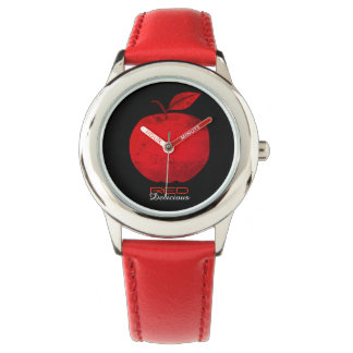 Red Delicious Apple Simple Cool Nature Vibrant Watch