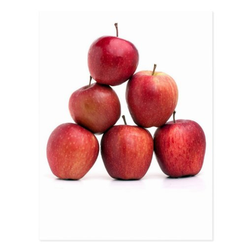 Red Delicious Apples Pyramid Postcard
