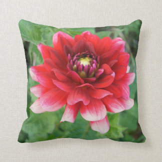 "Red Delilah Flower, Throw Pillow 16""x16"""