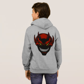 Red Demon Smiling Devil Horror Scary Monster Hoodie