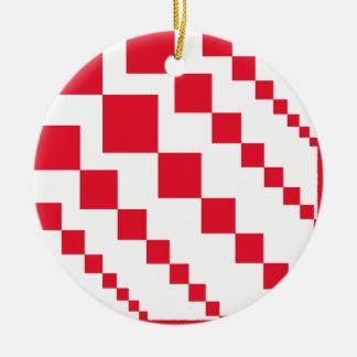 Red Descending Diamonds Christmas Ornament