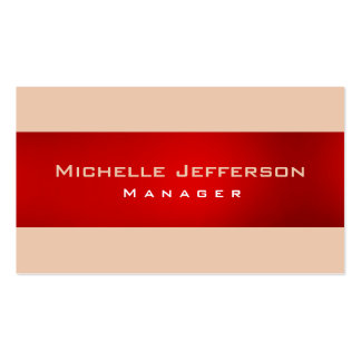 Red Desert Sand Manager Business Card