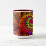 Red Design Pattern Mug