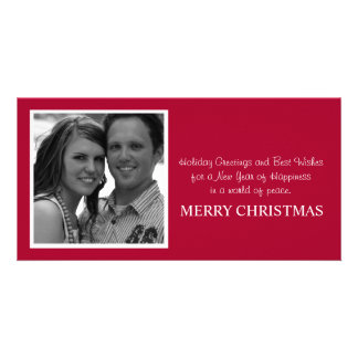 Red Design Photo Card Christmas Cards