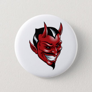 Red Devil 6 Cm Round Badge