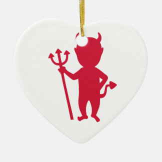 Red devil christmas ornament