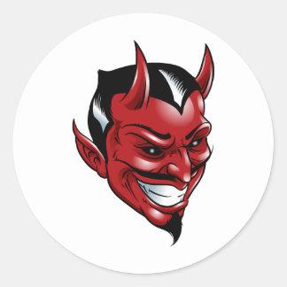 Red Devil Classic Round Sticker