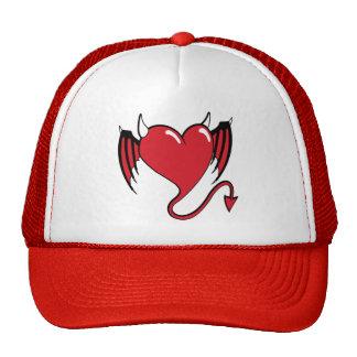 red devil heart cap