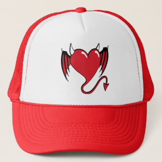 red devil heart trucker hat