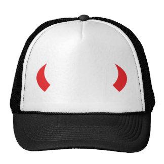 red devil horns icon cap