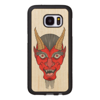 Red Devil Illustration Wood Samsung Galaxy S7 Case