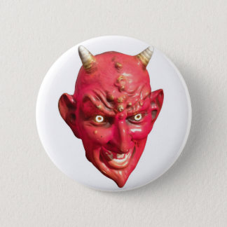 Red Devil Satan Demon Hell Horns 6 Cm Round Badge