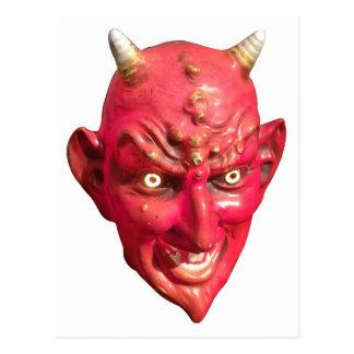Red Devil Satan Demon Hell Horns Postcard