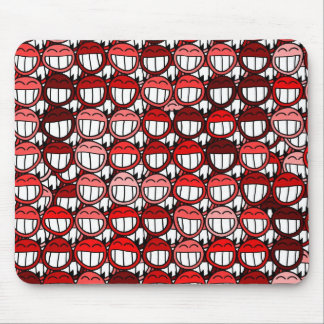 Red Devil Smiley Faces Funny Humor Laugh Cartoon Mouse Pad