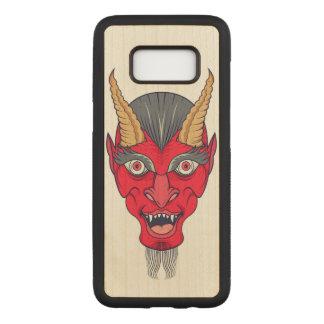 Red Devill Illustration Carved Samsung Galaxy S8 Case