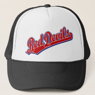 Red Devils in Red and Blue Trucker Hat