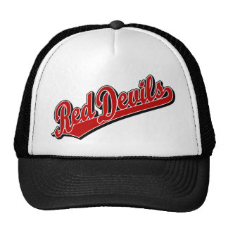 Red Devils in Red and White Cap