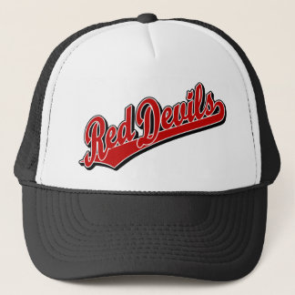 Red Devils in Red and White Trucker Hat
