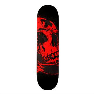 Red Devil's Skull Creepy Artwork Skate Board Deck