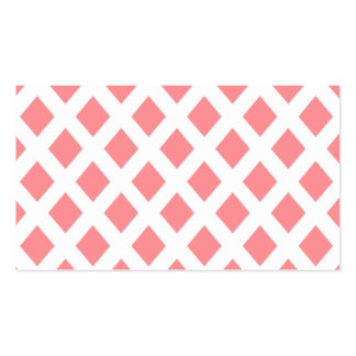 Red Diamond Pattern Business Card Templates