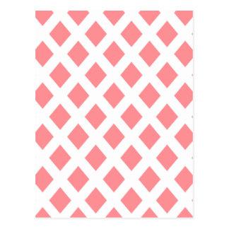 Red Diamond Pattern Post Card