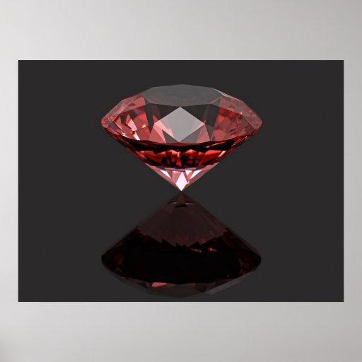 Red diamond ruby print