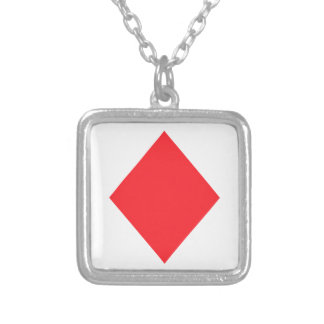 Red Diamond - Suit of Gambling Cards Custom Necklace