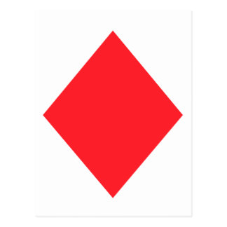 Red Diamond - Suit of Gambling Cards Post Cards
