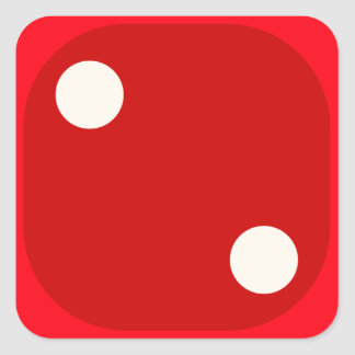 Red Dice Die Roll Two Square Seal
