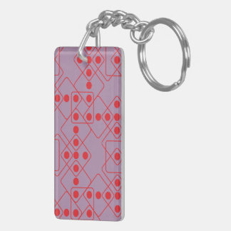Red Dice Double-Sided Rectangular Acrylic Key Ring