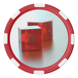 Red Dice Poker Chips