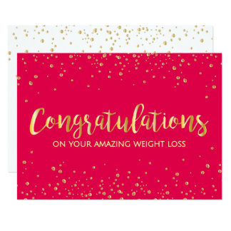 Red Diet Slimming Club Weight Loss Congratulations Card