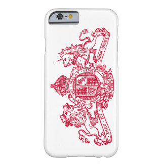 Red Dieu et Mon Droit British Coat of Arms Barely There iPhone 6 Case