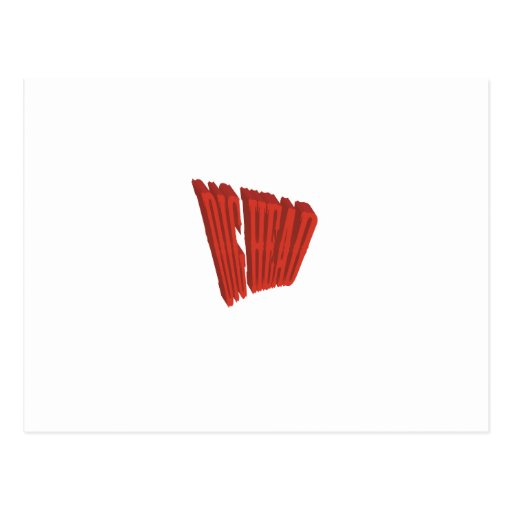 Red Dig Head Dry Brush Postcards