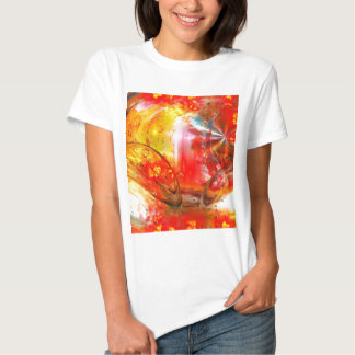 Red Digital Abstract T-shirts