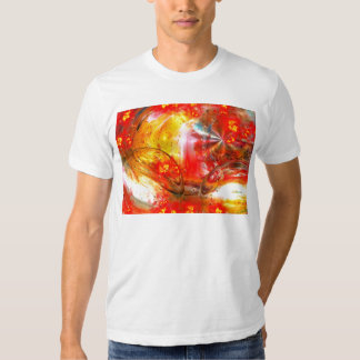 Red Digital Abstract T Shirts