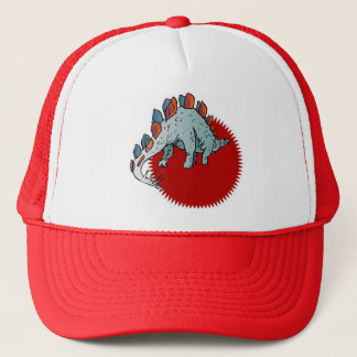 Red Dinosaur Trucker Hat