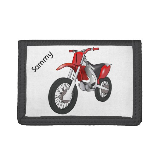 Red Dirt Bike Motorcycle Wallet