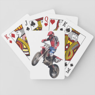 Red Dirt Bike Playing Cards