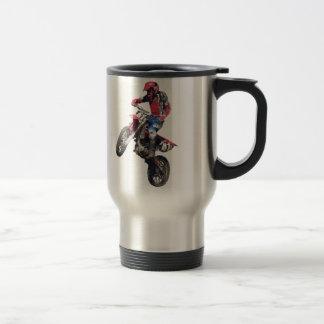 Red Dirt Bike Stainless Steel Travel Mug