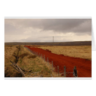 Red Dirt Road In Iceland Greeting Cards