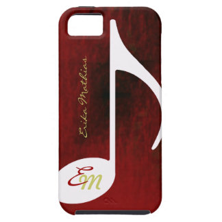 red distressed music note iPhone 5 cover