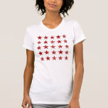 Red Distressed Stars Tee Shirt