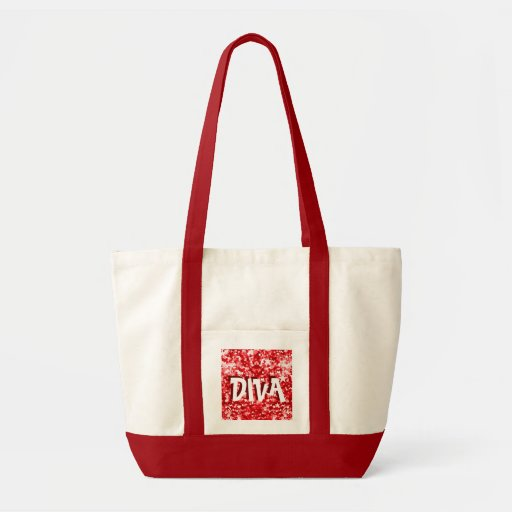 Red Diva glamour bag tote