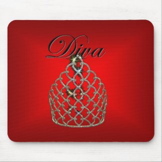 Red Diva Mouse Mat