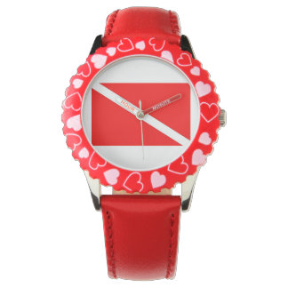 Red Dive Flag Watch