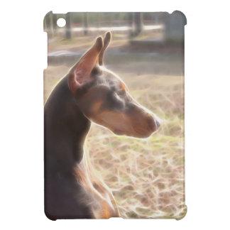 Red Doberman Portrait iPad Mini Case (v 10-3)