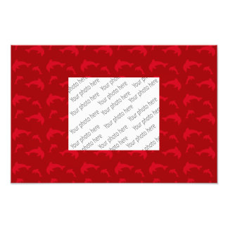 Red dolphin pattern art photo